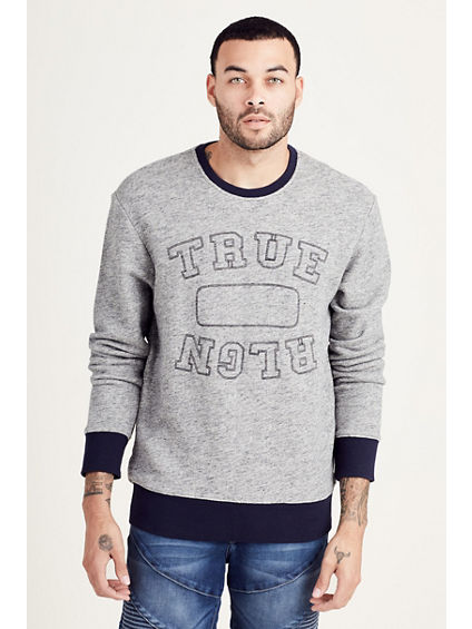EMBROIDERED CREWNECK MENS PULLOVER