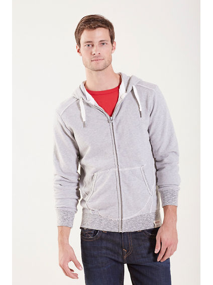 HOODED ZIP MENS JACKET
