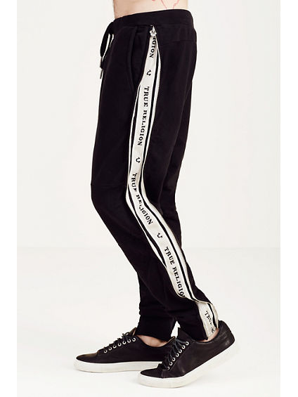 TRUE TAPE CONTRAST ZIPPER MENS SWEATPANT