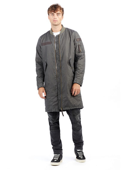 PADDED LONG MENS BOMBER