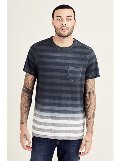 STRIPED POCKET MENS TEE