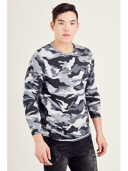LONG SLEEVE CAMO MENS TEE
