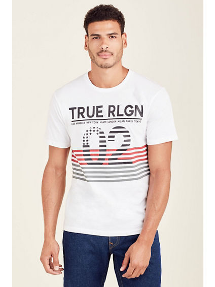 INSIDE FLAG MENS CREW NECK TEE