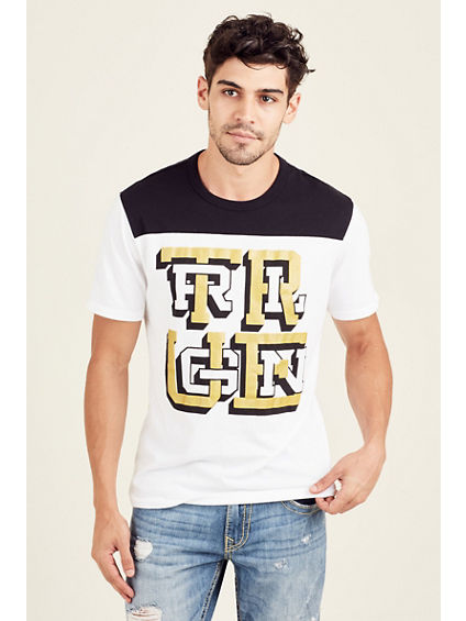 FOOTBALL WEAVE CREW NECK MENS TEE