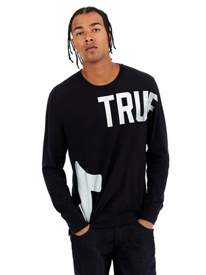 TR AROUND LS CREW NECK MENS TEE