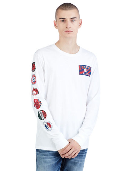 WORLD TEE LS CREW NECK TEE