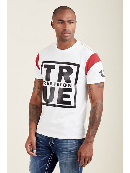 TR SQUARE FOOTBALL SLEEVE MENS TEE