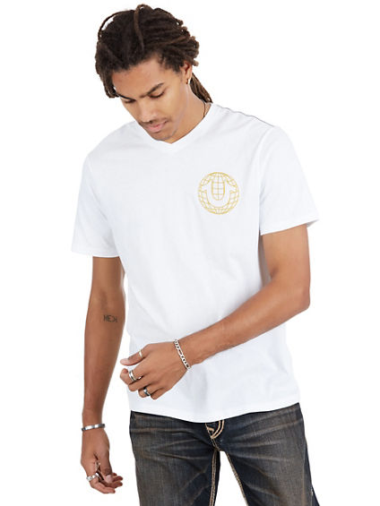AIR GLOBE V NECK MENS TEE