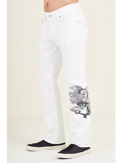 RICKY STRAIGHT MENS WHITE JEAN