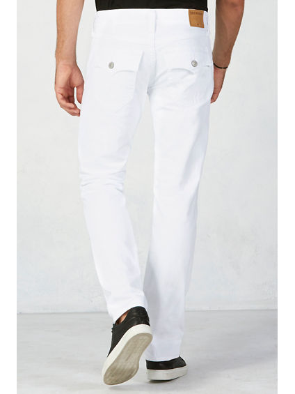 GENO SLIM  MENS WHITE JEAN