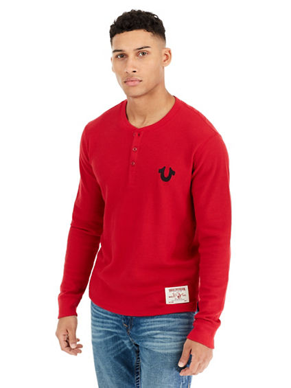 HORSESHOE LS THERMAL MENS HENLEY
