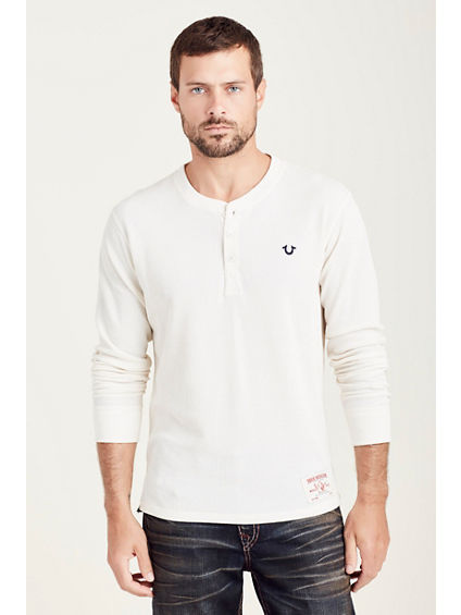 EMBROIDERY LOGO MENS HENLEY