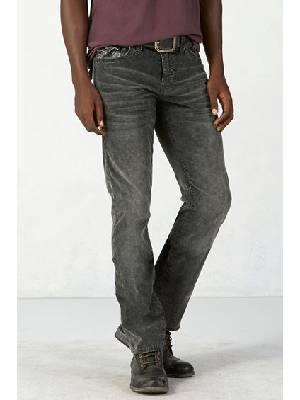 RICKY STRAIGHT ACID WASH MENS CORDUROY PANT