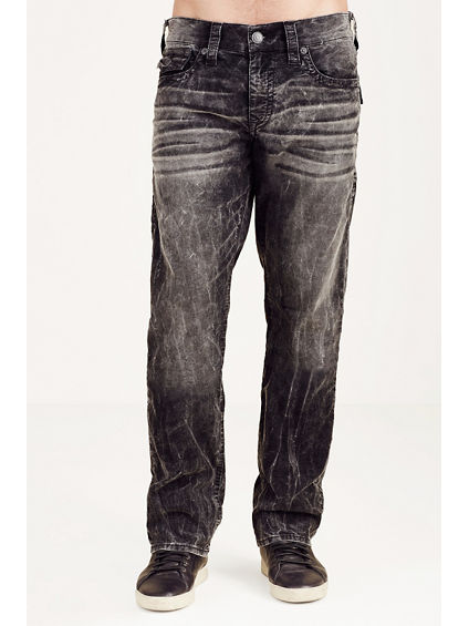 RICKY STRAIGHT ACID WASH CORDUROY MENS PANT