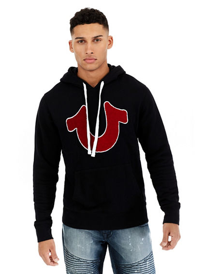 HORSESHOE CHENILLE PULLOVER MENS HOODIE