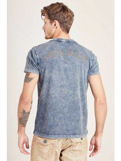 HAND PICKED HAMMERED LOGO MENS TEE