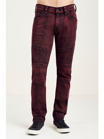 SLIM MOTO RED/BLACK MENS JEAN