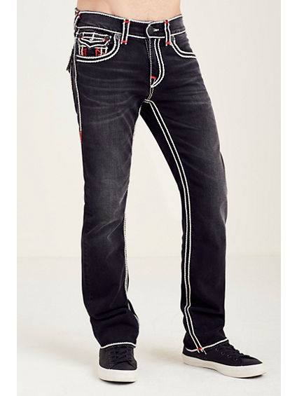 STRAIGHT FLAP RED/WHITE ROPESTITCH MENS JEAN