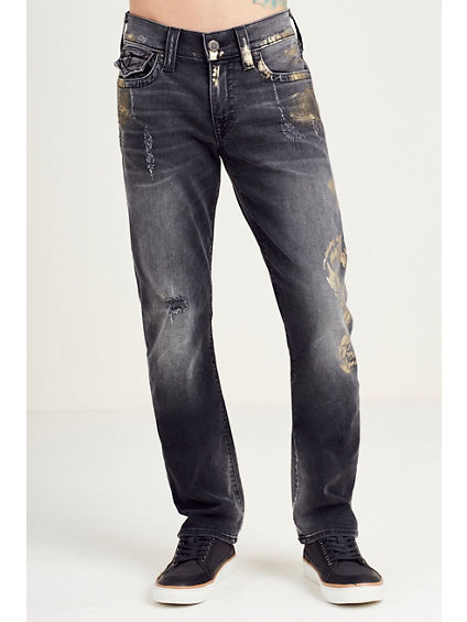 RICKY STRAIGHT RIPPED MENS JEAN