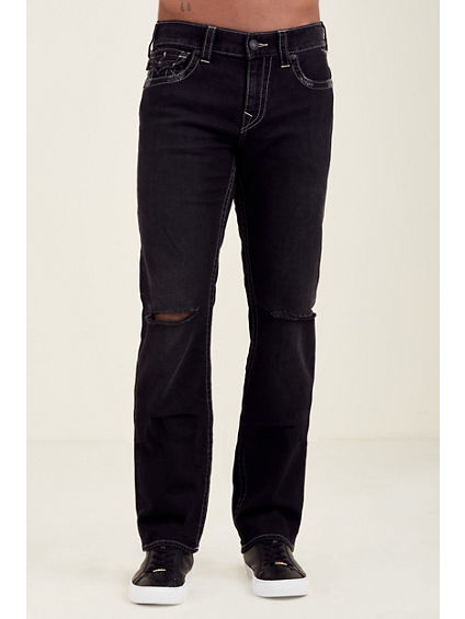 SLIM FLAP GREY STITCH MENS JEAN