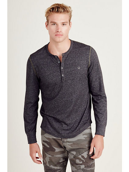 LONG SLEEVE MENS HENLEY SHIRT