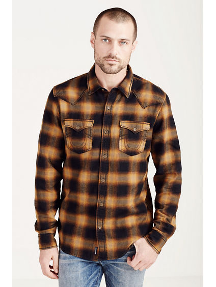 PLAID MENS WESTERN SHIRT