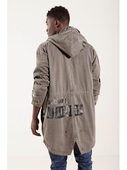 military parka mens jacket true religion. Black Bedroom Furniture Sets. Home Design Ideas