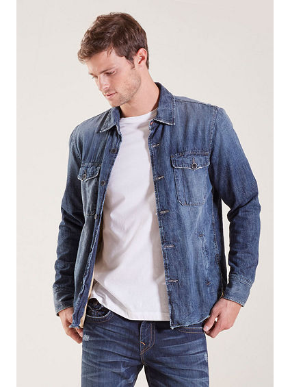 JEAN MENS SHIRT JACKET