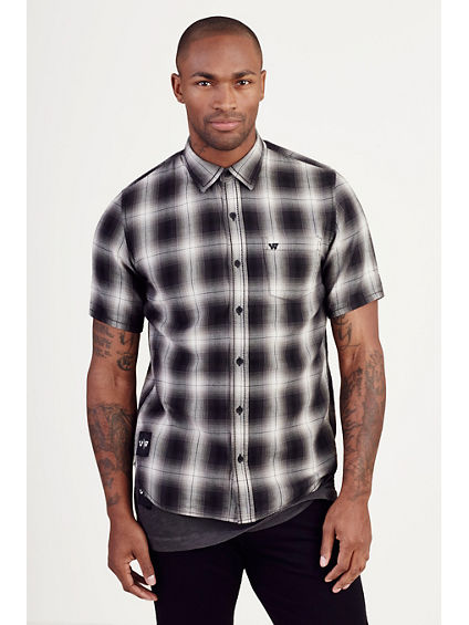 RUSSELL WESTBROOK SHORT SLEEVE PLAID