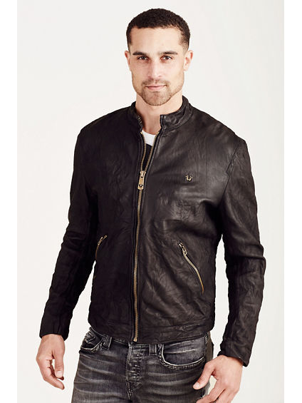 CAFE RACER MENS LEATHER JACKET