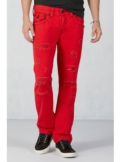 HAND PICKED STRAIGHT MENS RED JEANS - True Religion