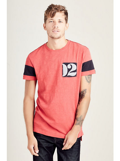 ELONGATED PATCH RINGER MENS TEE