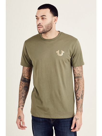 METALLIC GOLD BUDDHA PUFF MENS TEE