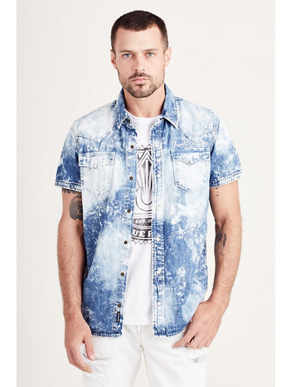 TRIPLE NEEDLE WESTERN MENS SHIRT