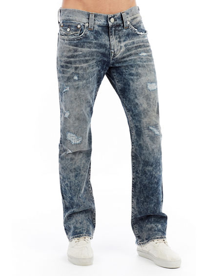 MENS DESTROYED RICKY STRAIGHT MENS JEAN