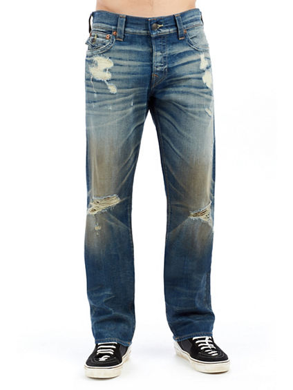 MENS DESTROYED SELVEDGE RICKY STRAIGHT JEAN