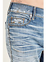 ROCCO SKINNY CABLE STITCH MENS JEAN