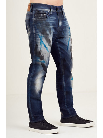 ROCCO SLIM PAINT SPLATTER MENS JEAN