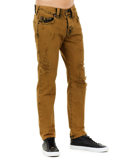 MENS DISTRESSED RIGID ROCCO SKINNY JEAN