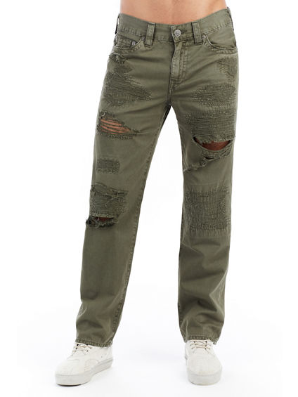DREW STRAIGHT LEG RIPPED TWILL MENS PANT