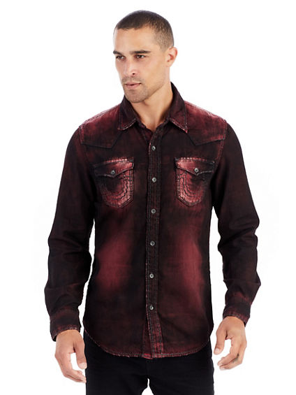 RYAN WESTERN SUPER T MENS BUTTON UP SHIRT