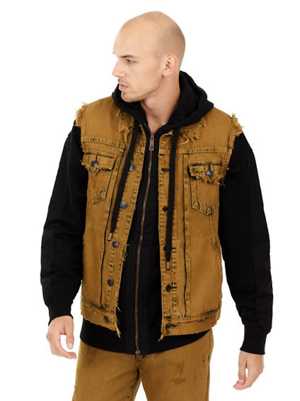 MENS DISTRESSED DYLAN VEST