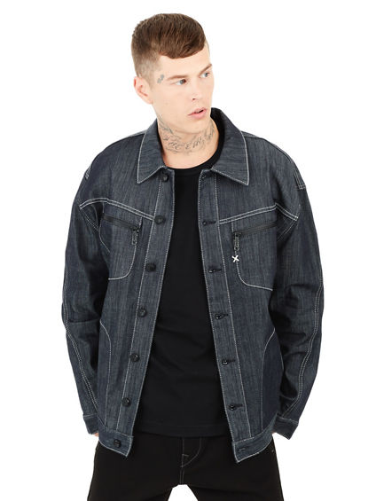 MENS URBAN BAGGY DENIM JACKET