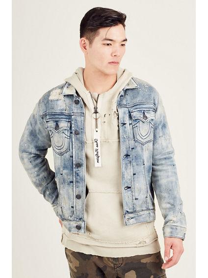 Distressed Boyfriend Denim Jacket True Religion Excellent Sale Online dTP3P8zA