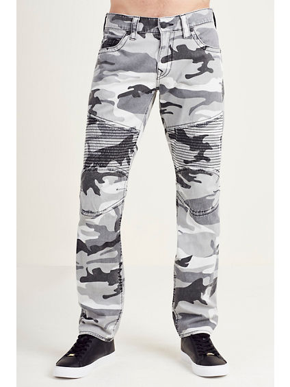 SLIM MOTO GREY CAMO MENS JEAN