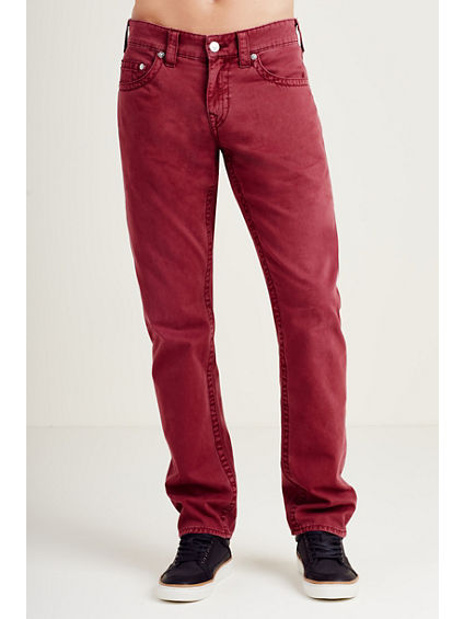 SLIM BURGUNDY MENS PANT