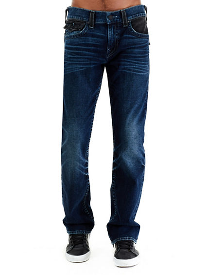 STRAIGHT W/ FLAP TRUE INDIGO MENS JEAN
