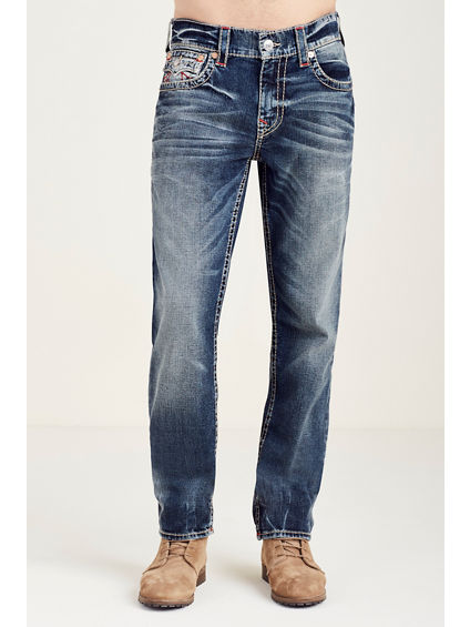 SLIM FLAP RED BIG T STITCH MENS JEAN