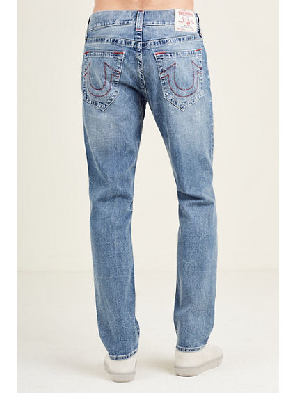 SLIM RED STITCH MENS JEAN