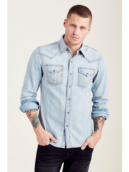 DENIM WESTERN MENS SHIRT
